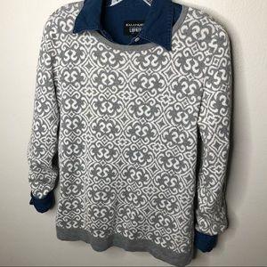 Croft & Barrow Print Sweater